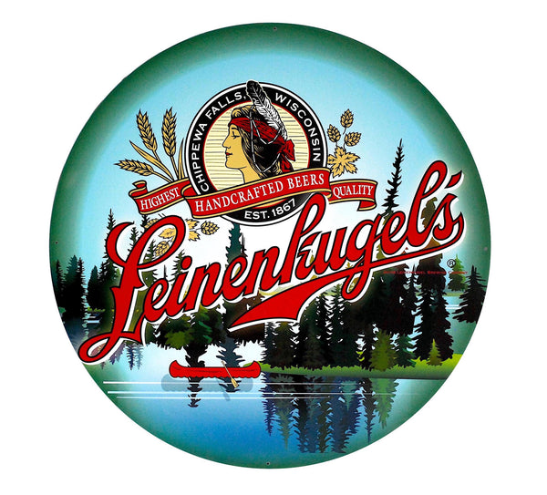 "Leinenkugel's 14"" Round Metal Sign"