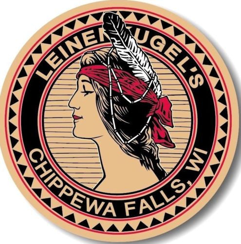 "Leinenkugel's Maiden 7"" Round Metal Sign"