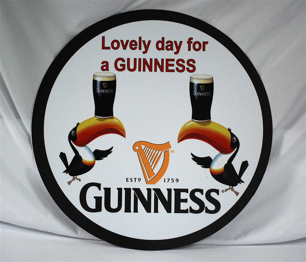 "Lovely Day for a Guinness 24"" Tin Sign"
