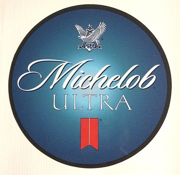 "Michelob Ultra 7"" Round Metal Sign"