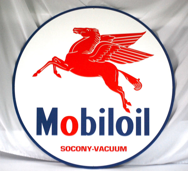 "Mobiloil 36"" Tin Sign"