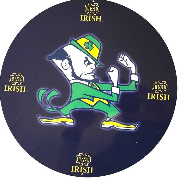 "Notre Dame 12"" Round Metal Sign"