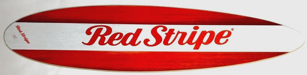 Red Stripe Malibu Style Surfboard