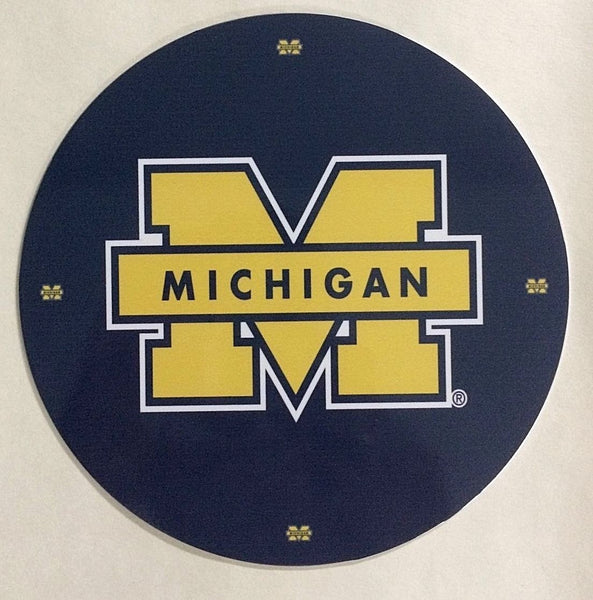"University of Michigan Wolverines Collegiate Logo 7"" Round Sign"