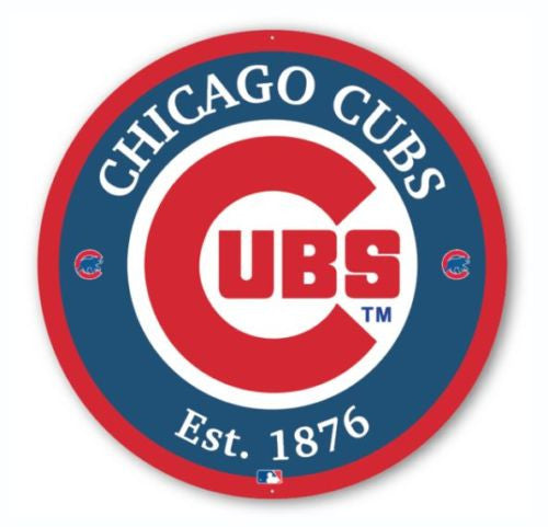 Chicago Cubs Round Aluminum Sign's - (variety of sizes available)