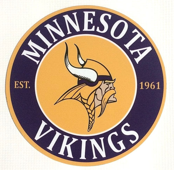 "Minnesota Vikings NFL 7"" Round Metal Sign"