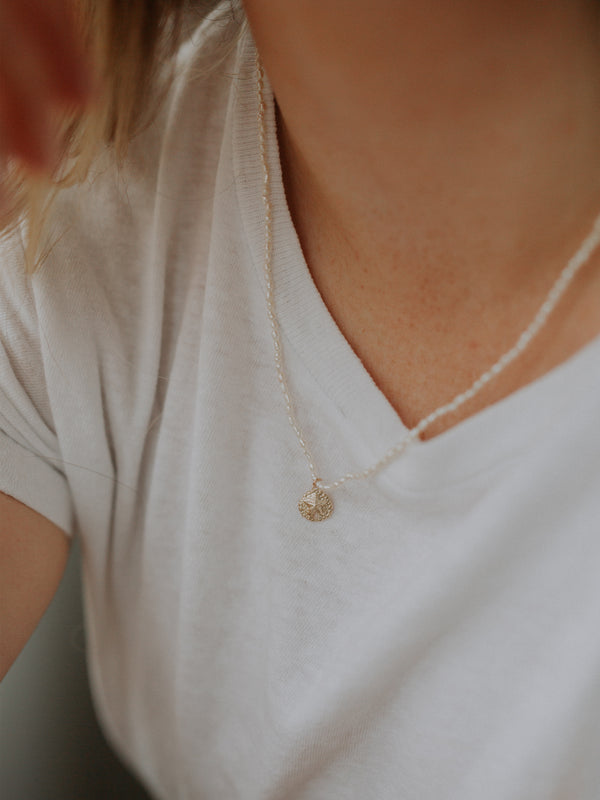 Coco necklace + sand dollar | gold filled