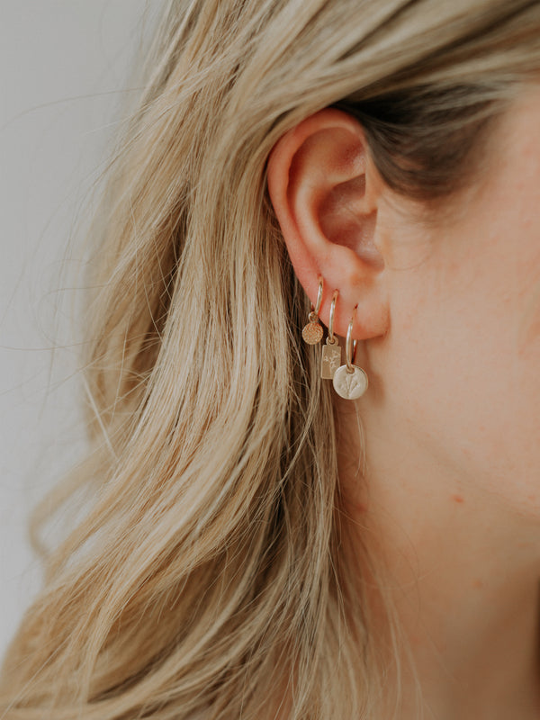 Poppy endless hoops | gold filled