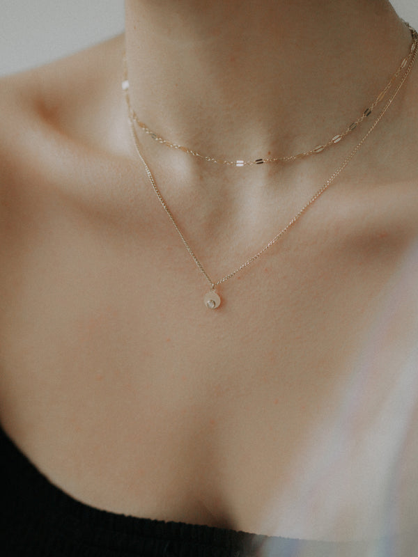 eva necklace - moonstone
