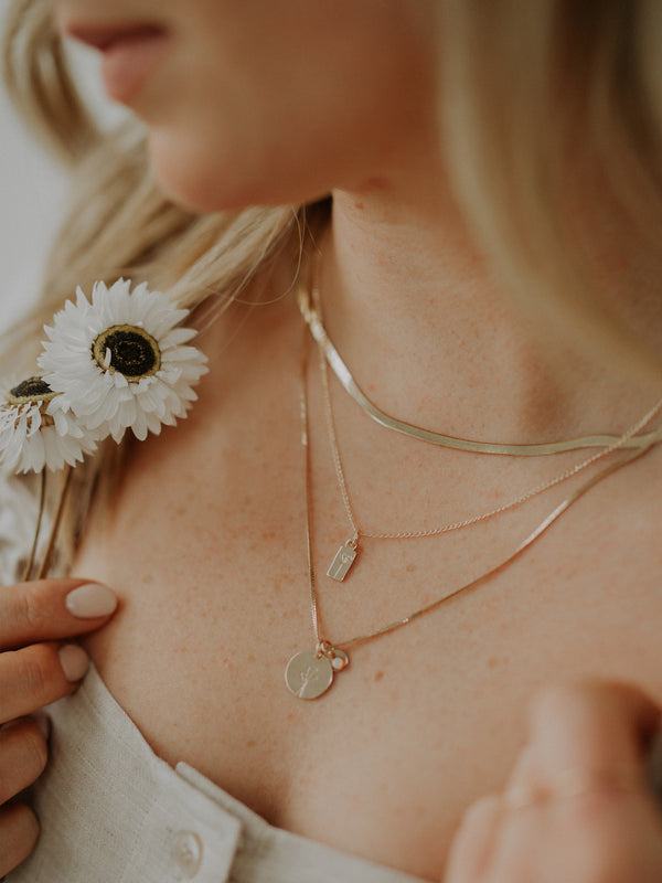 poppy charm | gold filled | necklace