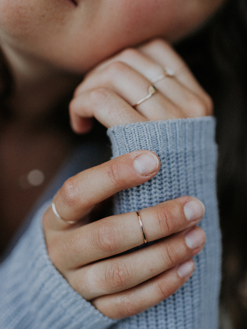 stacking ring | hammered