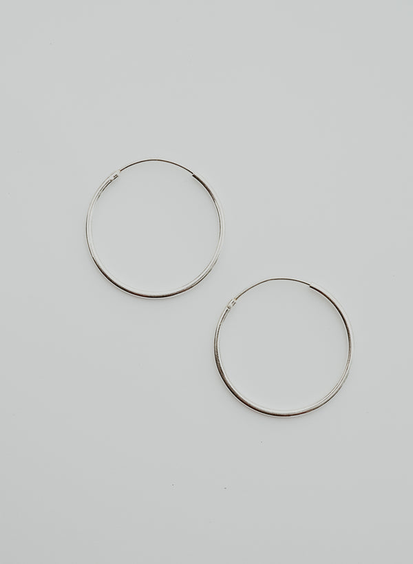 sterling silver endless hoops