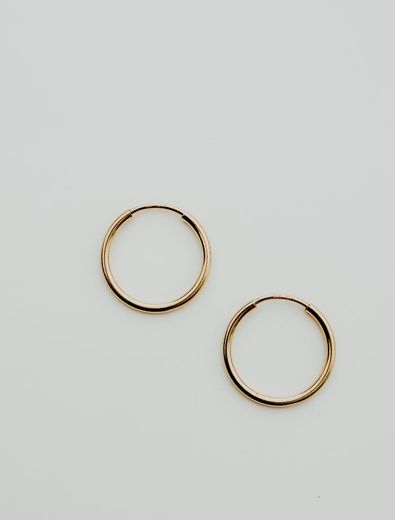 gold fill endless hoops