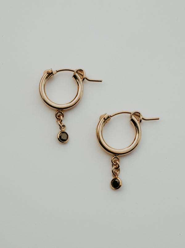 little sparkle hoops | black
