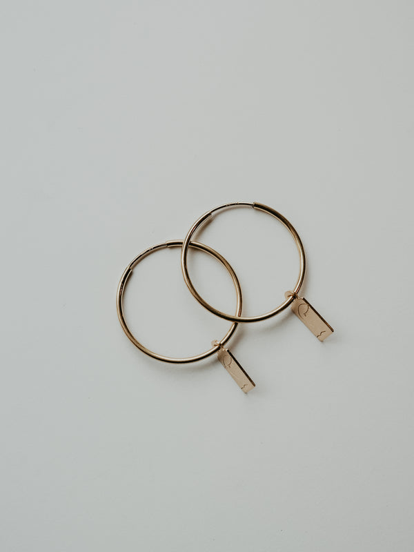 oriana hoops | gold filled