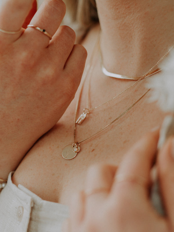 Herringbone chain | Thin | gold filled
