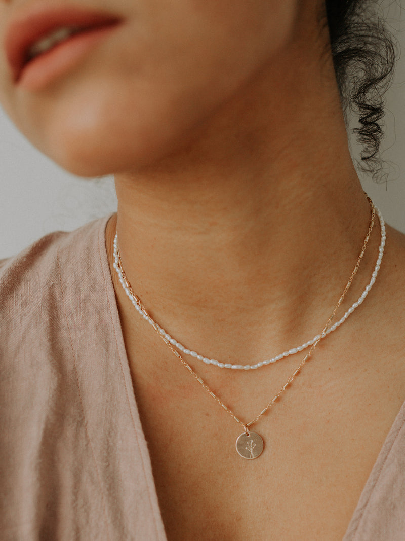Coco necklace | gold filled