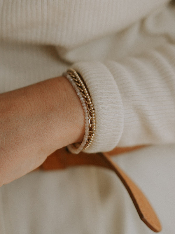 peach bracelet | gold filled