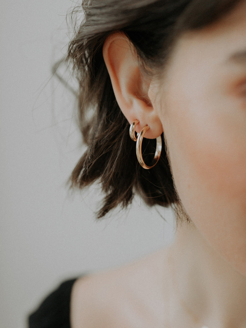 pico hoops | 22mm | gold filled