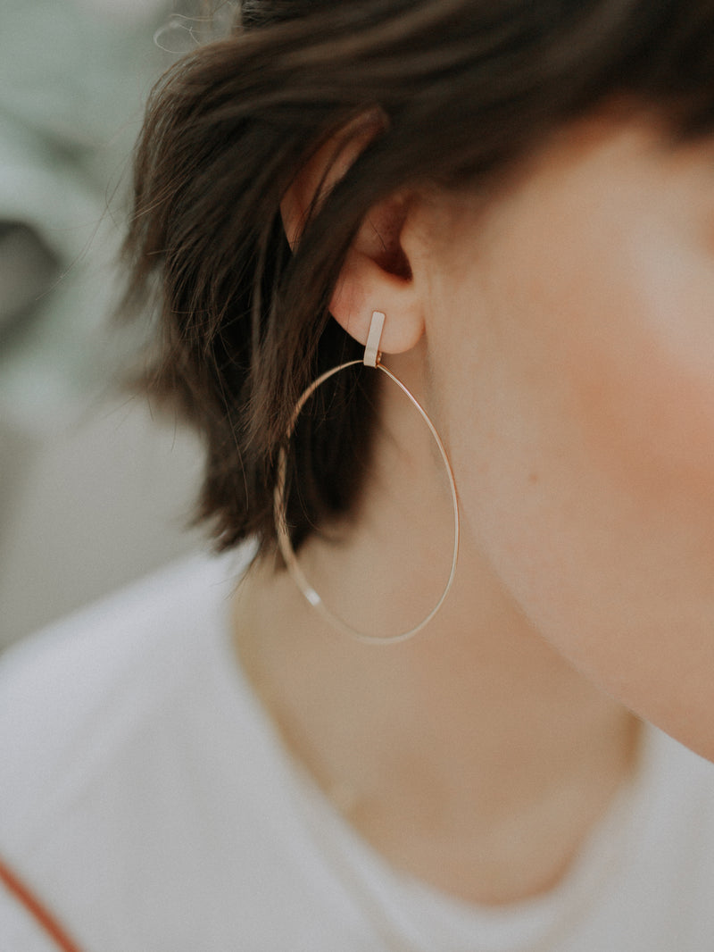 pillar earrings