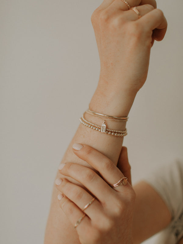 Curb chain bracelet | light | Gold filled