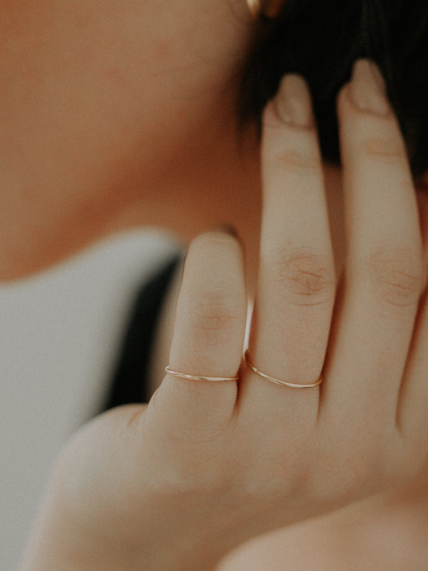 gold stacking ring | smooth