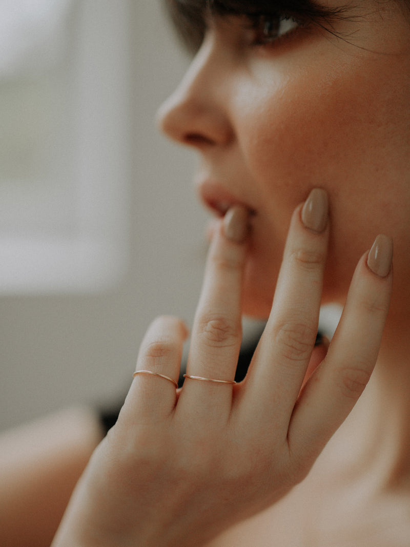 stacking ring | smooth | gold filled