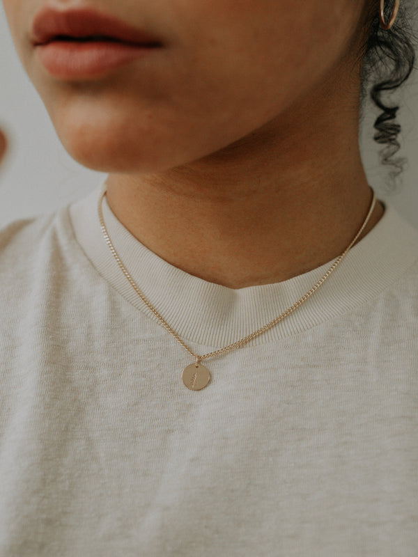spruce charm | gold filled