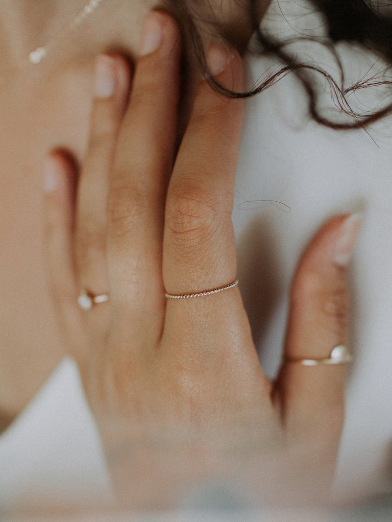 stacking ring | twisted | gold filled