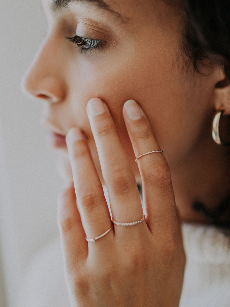 gold stacking ring | twisted