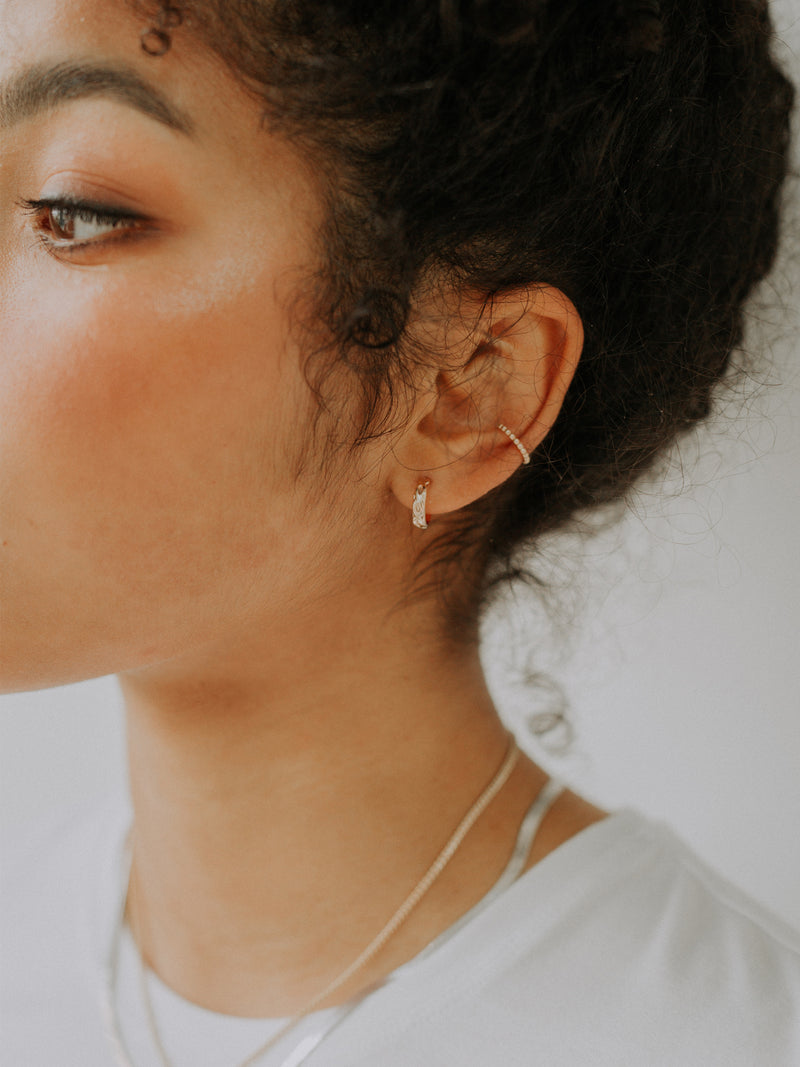 Ziggy hoops | 10mm | gold filled