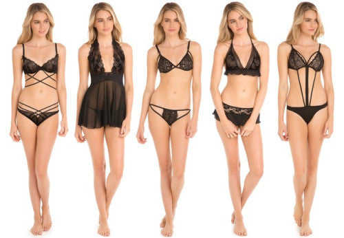 Nothing like the beauty of basic black. Stock up on lingerie...