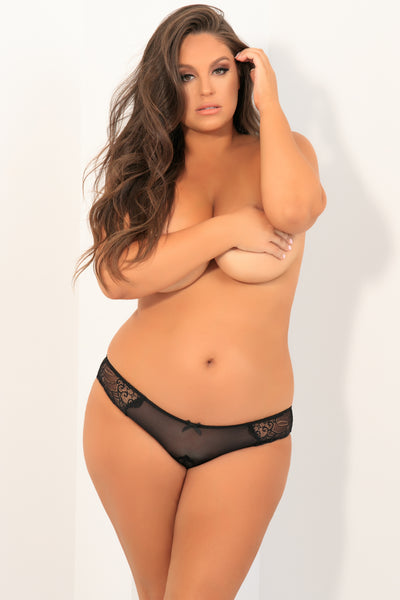 Attention Seeker Open Back Panty - René Rofé Sexy Plus Size