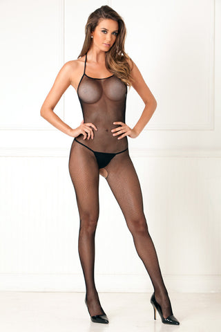 7001<BR>Halter Fishnet Bodystocking