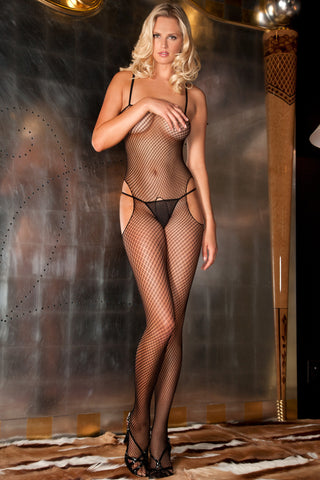 7011<BR>Sexy & Sensual Fishnet Crotchless Bodystocking