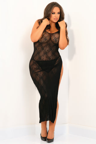 Take The Heat Lace Gown - René Rofé Sexy Plus Size