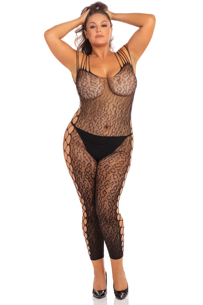 Copy of Animal Crotchless Bodystocking- René Rofé Sexy Plus