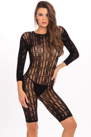 Exotic Geometry Bodystocking - René Rofé Sexy Lingerie