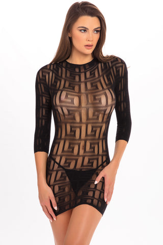Exotic Geometry Mini Dress - René Rofé Sexy Lingerie