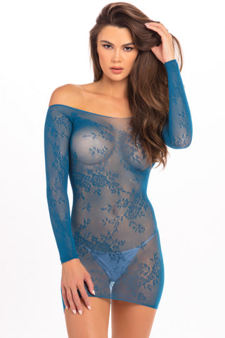 Open Season Off-Shoulder Mini Dress - René Rofé Sexy Lingerie