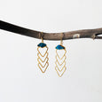 Arrowhead Raw Stone Earrings