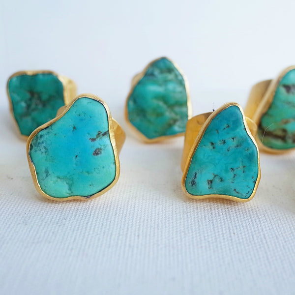 Wholesale Case Pack of 3 - Sleeping Beauty Turquoise Ring (Arizona) - AnnahMol