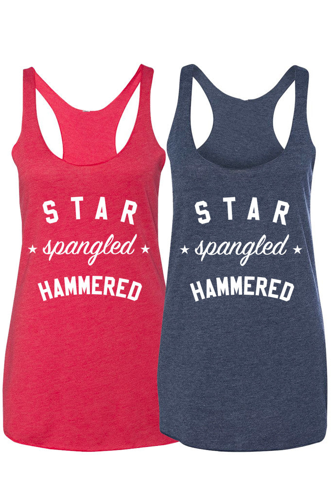 STAR SPANGLED HAMMERED - WOMENS TANK