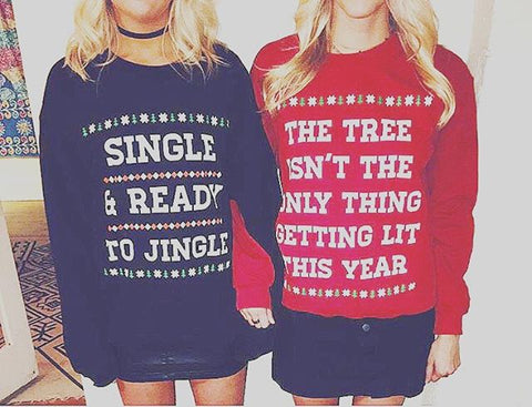 SINGLE & READY TO JINGLE - CREWNECK (BLACK)