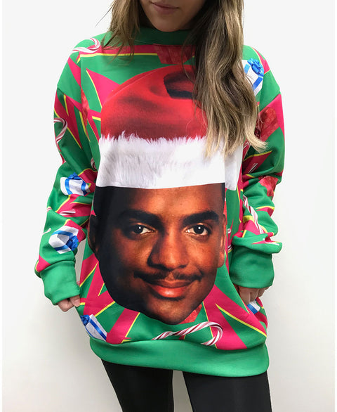 Carlton - Ugly Christmas Crewneck Sweater (Unisex)
