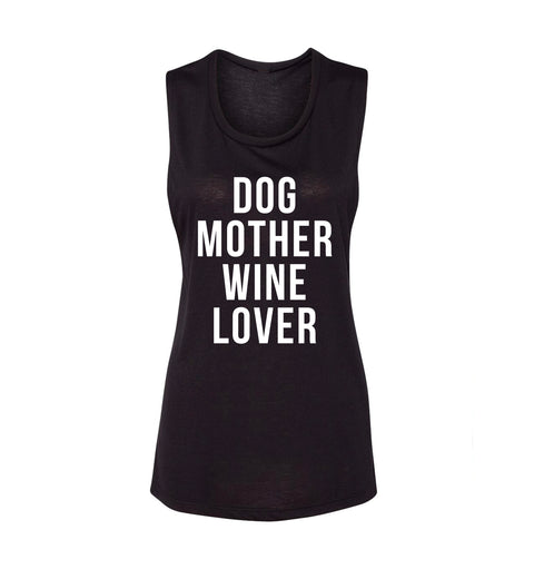 Dog Mother Wine Lover - Flowy Tank