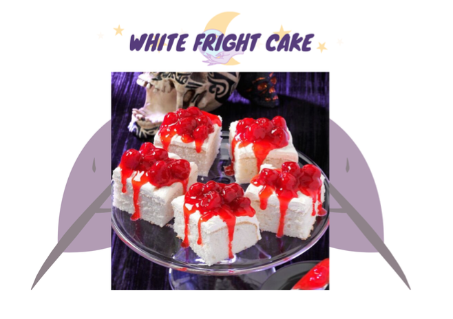 White Fright Cake this Spooky Season
