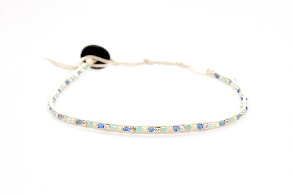 Pearly Waves Anklet