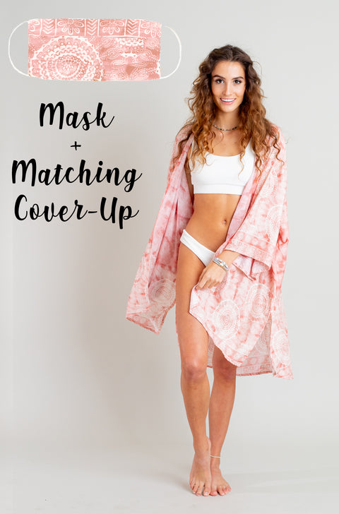 Peach Beach Cover-Up + Mask