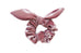 Blush Pink Velvet Scrunchie (With Bow)